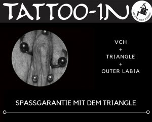 Triangel-Piercing in Kombi