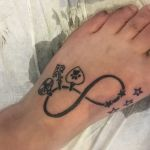Infinity Tattoo Unendlichkeitszeichen Anker, Pfote, Herz und Sternen