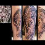 Black and Grey Tattoo von Xavielle Skull und Tierschädel