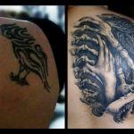 Cover up von Xavielle Black and Grey Bioorganic am obereren Rücken