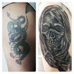 Drachen Cover up von Xavielle zum Skull