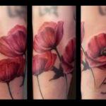 Realistic Tattoo von Xavielle roter Mohn