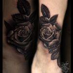 Realistic Tattoo von Xavielle Schwarze Rose