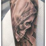Skull Tattoo von Xavielle mit Spitzenhäubchen