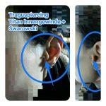 Traguspiercing mit hellblauen Swarovski mit Prongfassung