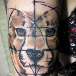 colored gepard tattoo wannado von xavielle