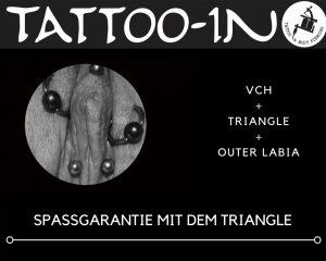 Triangel-Piercing in Kombi